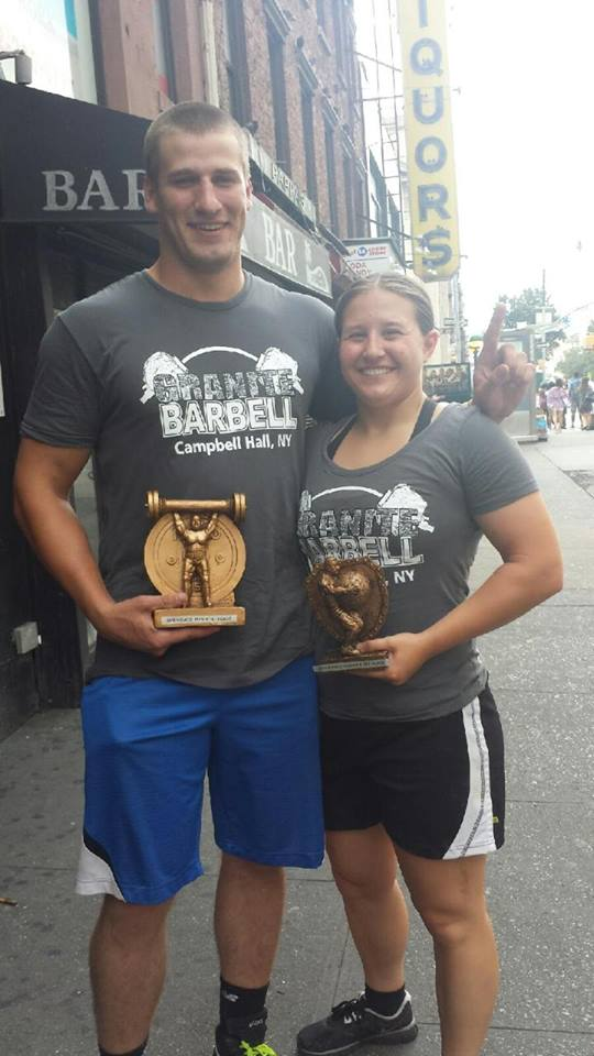Granite Barbell Team at Strongest Man and Woman in NY Jan 16 2016