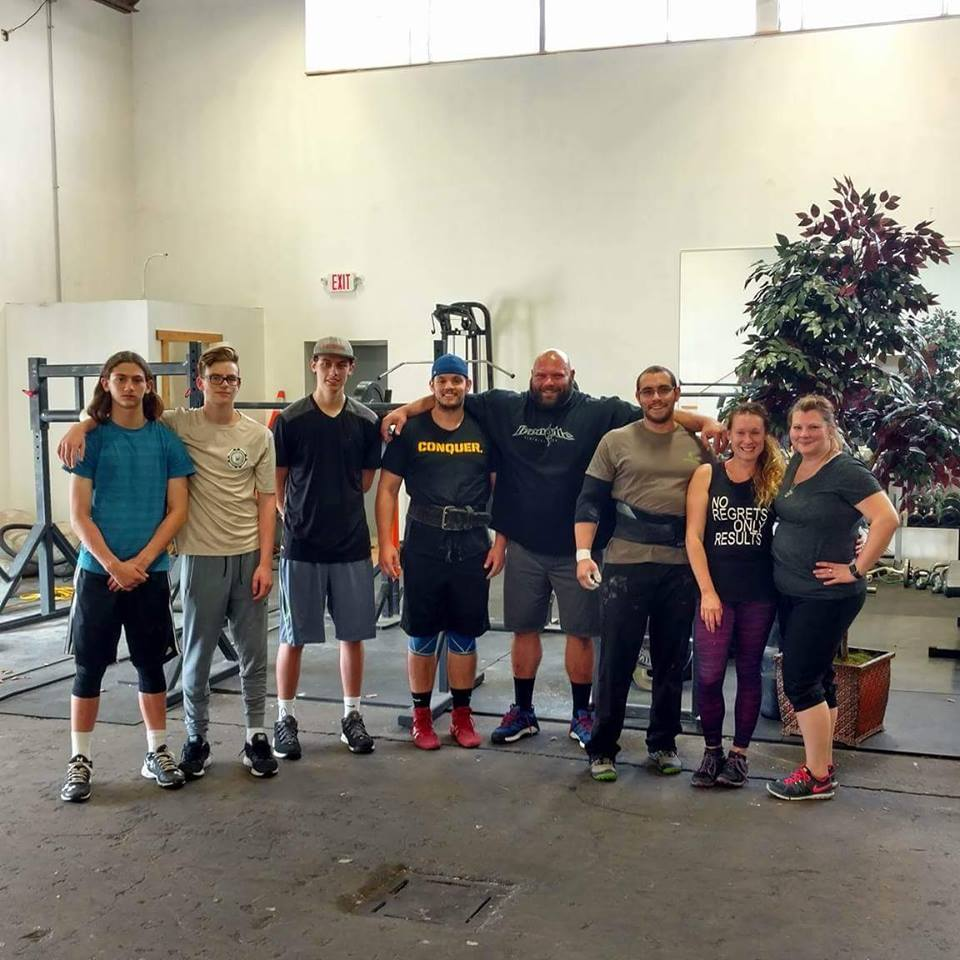 Granite Barbell Orange County NY gym October 4 2016 Mid-morning Crew!