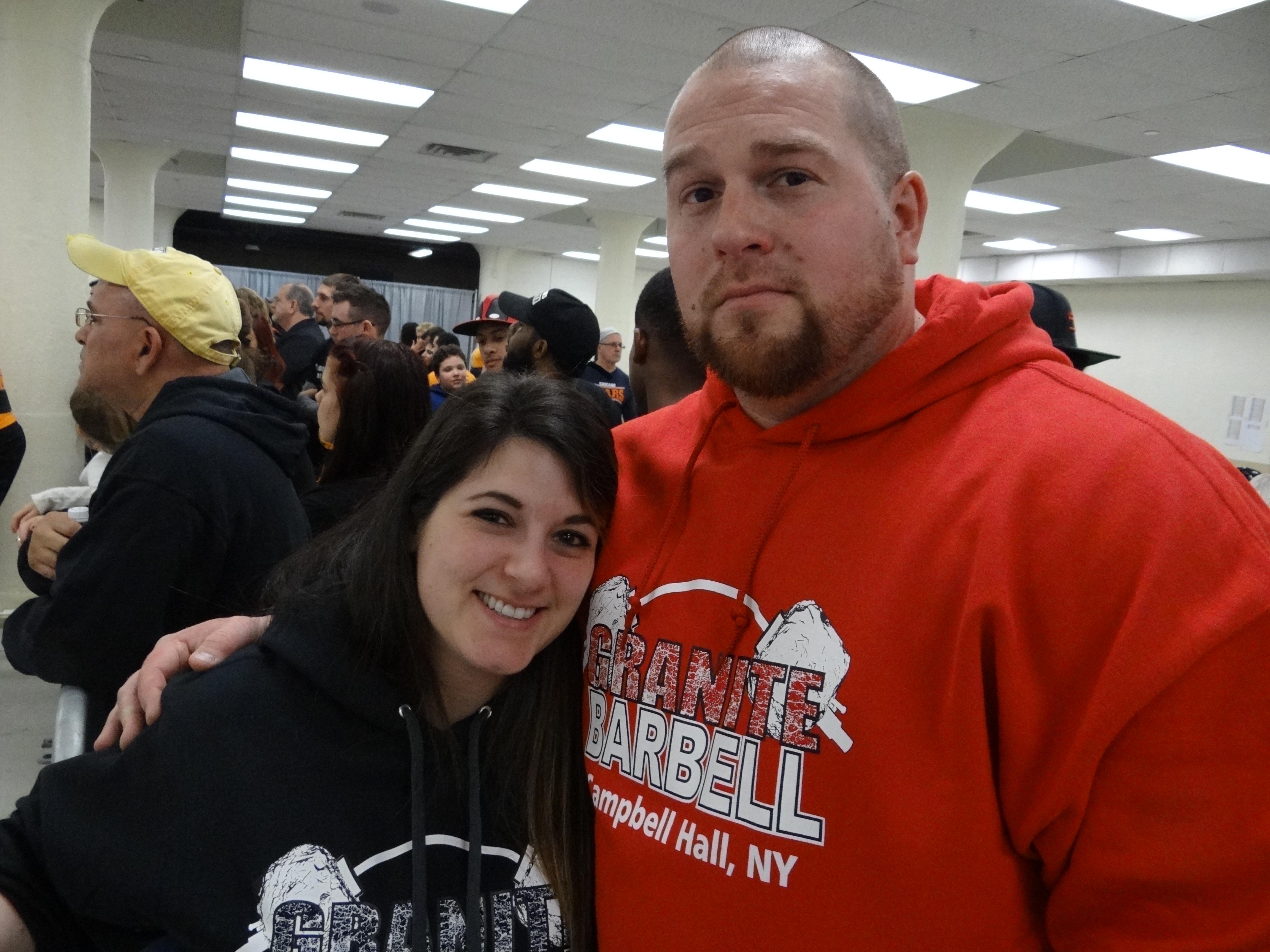 Granite Barbell gym The Granite Barbell Team at New York Strong-est Man & Woman at Westchester County Center White Plains January 21 2017